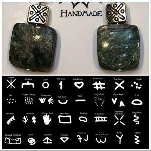 Casey Keith Design Jewelry - Primitive Art Kyanite Earrings